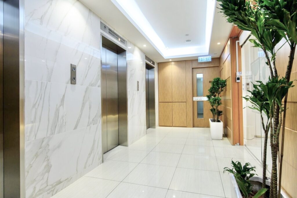 vOffice Lift Lobby